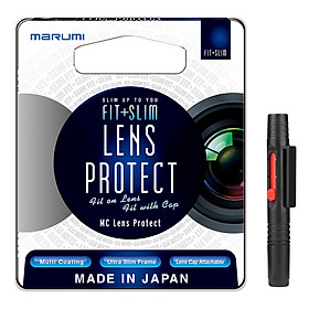 Combo Kính Lọc Filter Marumi Fit & Slim Lens Protect 67mm + Bút Lau Lens - Hàng Nhập Khẩu