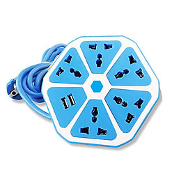 Ổ Cắm Điện Đa Năng Lục Giác 5 Ổ Cắm Điện+ 2 Cổng USB siêu tiên lợi
