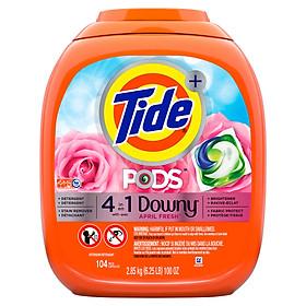 Viên giặt Tide Pods 4 trong 1 Downy (104 viên)