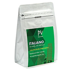 Cà phê PV Fine Coffee Italiano 250g (Bột) - Phương Vy