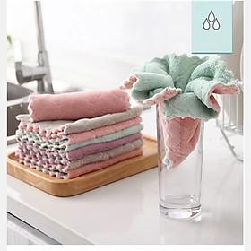 Bộ khăn lau  đa năng 10 cái - khăn lau bàn.