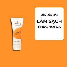 Sữa Rửa Mặt Dưỡng Ẩm Phục Hồi Da Image Skincare Vital C Hydrating Facial Cleanser 7.4g | Dành Cho Da Khô Thiếu Nước