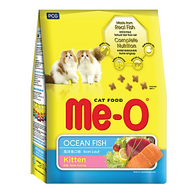 Đồ Ăn Cho Mèo Con Me-O Hương Vị Cá Biển (1.1Kg)