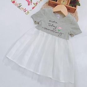 Váy thun chân voan AnniKids cho bé 3-8 tuổi