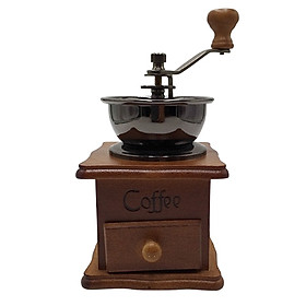 Máy xay cà phê cầm tay hộp gỗ - coffee new