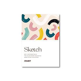 Sổ tay Sketchbook - Sổ vẽ - Ruột trơn (15x21cm) - Rainbow