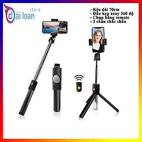 Gậy chụp hình 3 chân có bluetooth K10 chụp ảnh selfie tự sướng bằng remote, kẹp xoay 360 độ