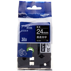 Brother TZe-355 Brother TZe-355 24mm black and white label ribbon (for 9500/9700/9800/3600/2430/2730/7600)
