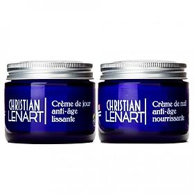 Hình đại diện sản phẩm Combo Kem Dưỡng Da Chống Lão Hóa Ngày và Đêm Christian Lenart Lenart Crème De Nuit Anti-Âge Lissanta & Nourrrissante 60ml x2