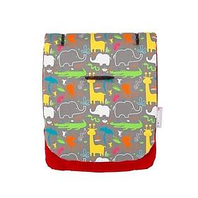 Đệm xe đẩy chống rung cotton CuddleCo của Anh - Động vật rừng xanh