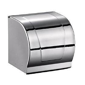 Lô giấy vệ sinh kín, Inox 304 dày dặn chắc chắn, chống ướt giấy