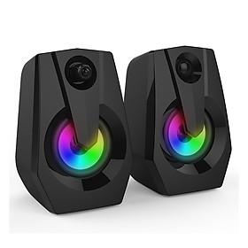 SMALODY VXSM9015 Multimedia Bass Stereo Speaker Audio Player LED Colorful Light Double Speaker Mini Sound Blaster Audio