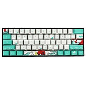Bàn phím cơ chơi game họa tiết san hô biển, bàn phím cơ keyboard thoải mái khi gõ chất liệu PBT với 71 phím mang lại độ bền cao  ,bàn phím máy tính cao cấp, bàn phím không dây
