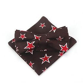 Bộ sản phẩm cà vạt thời  trang , nơ bướm  đeo cổ và khăn tay  cho bé trai ngôi sao 01