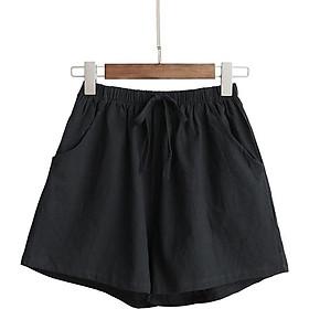 Quần short nữ ống rộng - quần đùi đũi