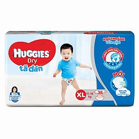 Tã dán siêu thấm Huggies Dry Jumbo size XL gói 38 miếng
