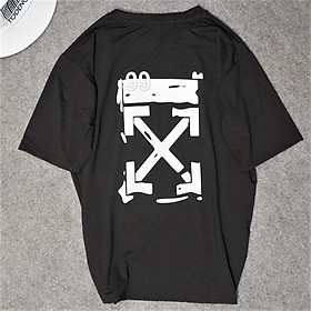 X - Áo thun đen nam in dạ quang phản quang trong tối chụp flash FREESIZE