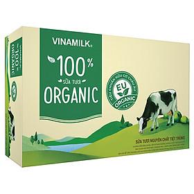 Thùng 48 Hộp Sữa Tươi Tiệt Trùng Vinamilk 100% Organic Không Đường (180ml)