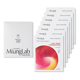 Miung Lab Anti Aging & Brightening - Mặt Nạ Dưỡng Da, Ngăn Ngừa Lão Hóa và Dưỡng Trắng (Hộp 7 Miếng)
