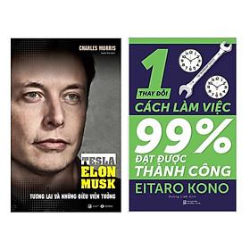 Combo Kỹ Năng Mềm: Thay Đổi 1% Cách Làm Việc - Đạt Được 99% Thành Công + Tesla - Tương Lai Và Những Điều Viễn Tưởng (Bộ 2 Cuốn Sách Kỹ Năng Giúp Bạn Làm Việc Hiệu Qủa - Tặng Kèm Bookmark Green Life)