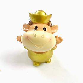 Tượng Nhựa Con Trâu Cute, dùng để trưng bày trong nhà, trên bàn sách, bàn làm việc, làm quà tặng dịp Tết Tân Sửu 2021 dễ thương và ý nghĩa - TMT Collection - SP005050