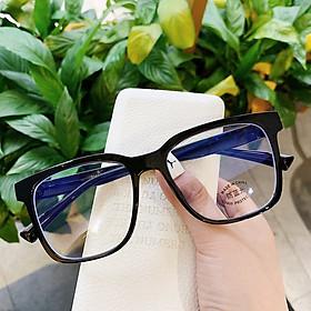 Kính cận thời trang mắt vuông phong cách Hàn Quốc gọng nhựa cao cấp chống va đập, mắt kính giả cận