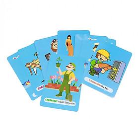 44 Thẻ Học Thông Minh Bé Nhận Biết Nghề Nghiệp - Thẻ in 2 Mặt, Kích Thước 11x16 cm, Song Ngữ Anh - Việt