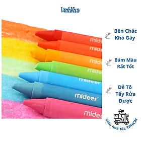 Bút Sáp Màu Cho Bé Tập Tô Nguyên Liệu An Toàn Dễ Dàng Tẩy Rửa Được - Mideer washable crayon