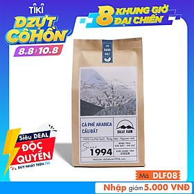 Cà phê hạt Arabica Cầu Đất rang xay mộc nguyên chất - Túi 250Gr (Dạng Hạt)