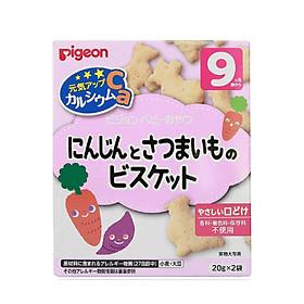 Bánh ăn dặm cà rốt và khoai lang Pigeon Nhật Bản (Tặng mẹ 1 mặt nạ 3W)