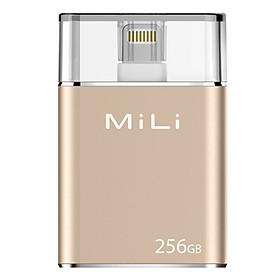 Ổ Cứng Di Động Mili IDATA 256GB USB 3.0 (Vàng) - Hàng Chính Hãng
