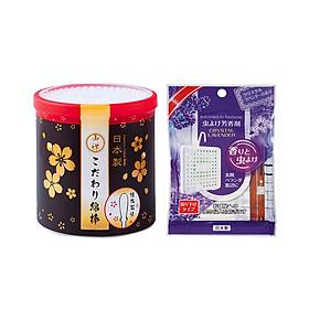Combo Miếng Đuổi Muỗi, Côn Trùng Treo Phòng Tiện Lợi (Hương Lavender) + Hộp 180 Bông Vệ Sinh Tai An Toàn Cao Cấp - Nội Địa Nhật Bản