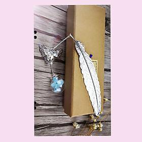 Bookmark lông vũ handmade kim loại cao cấp