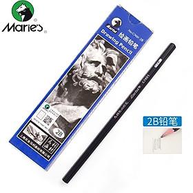Marie's painting pencil 7B carbon pen sketch practice test pencil 12 boxed C7401