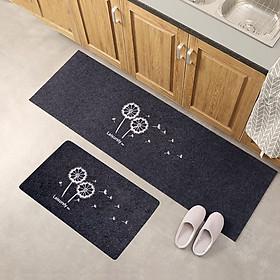 Combo 2 Thảm nhà Bếp ,thảm trang trí khổ 40x120 và 40x60 cm