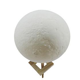 Đèn Ngủ Hình Mặt Trăng 3D Điều Khiển Từ Xa Với Giá Đỡ Bằng Gỗ (16 Màu)