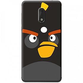 Hình đại diện sản phẩm Ốp lưng dành cho Nokia 6 mẫu Mặt bird đen