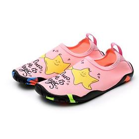 Giày đi biển, đi nước trẻ em, chơi các trò vận động, đế không trơn trượt, bảo vệ chân, nhẹ, mềm, nhanh khô, họa tiết sao, màu hồng cam SK025