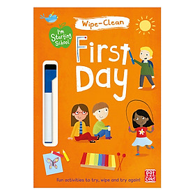 I'M Starting School: First Day: Wipe-Clean Book With Pen - I'M Starting School