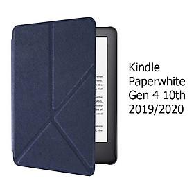 Bao Da Cover Cho Máy Đọc Sách Kindle Paperwhite Gen 4 10th Gấp Chéo