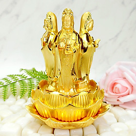 Tượng Phật Quan Âm Tứ Phương Mạ Vàng - Mang Đến Bình An - Phù Hộ Độ Trì