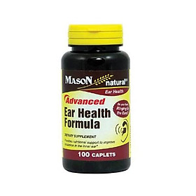 Mason Natural Advance Ear Health Formula Bioflavonoids Plus 100 Caplets per Bottle Pack of 3 Total 300 Caplets