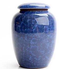 2 chiếc hũ đựng trà bằng gốm (màu xanh dương)