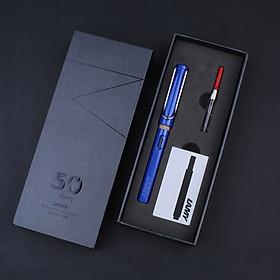 Bộ Quà Tặng Bút Mực Cao Cấp Lamy Safary - Shiny Blue (Paper Box + Túi Giấy)