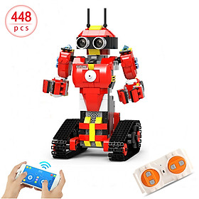 448pcs Robotic Building Block 2.4Ghz RC Robot APP Control Programming STEM Learning Kit Path Mode Voice Control