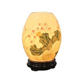 Đèn khuếch tán tinh dầu trứng mini vẽ hoa