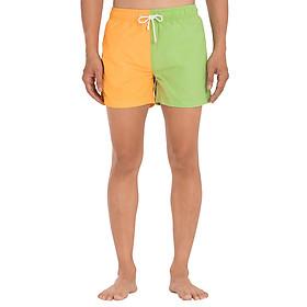 Quần Shorts Nam Đi Biển Phối Màu Aquary KOLOR BLOCK 7 - Xanh Cam