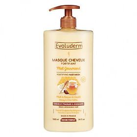 Hình đại diện sản phẩm Kem ủ dưỡng tóc chắc khỏe Mật Ong và Bơ Hạt Mỡ dành cho tóc dễ gãy rụng Masque Cheveux Miel Evoluderm 1000ml - 15266