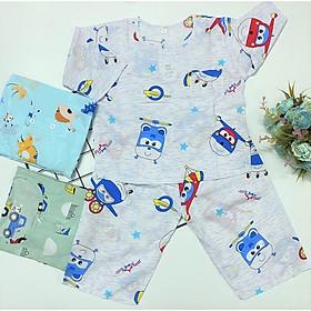 Set 3 bộ quần áo đồ ngủ bé trai Tole, lanh tay dài mềm, mịn, mát TomTom Baby, hàng Việt Nam chất lượng