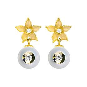 Bông Tai Galatea Jewelry Diamond In A Pearl 2150.04YW - Trắng
